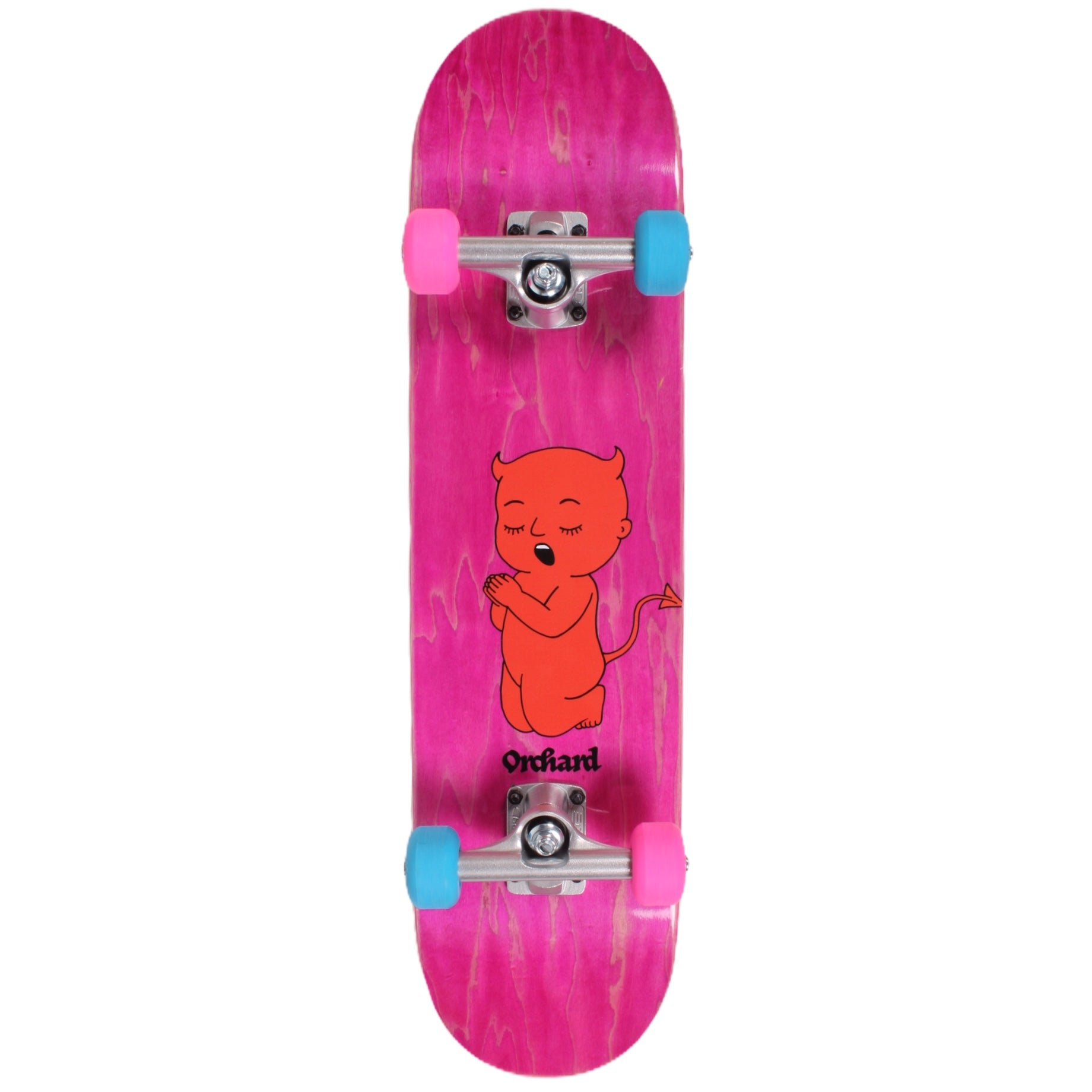 Orchard Thoughts & Prayers Complete Skateboard Standard 7.25 Mini Pink