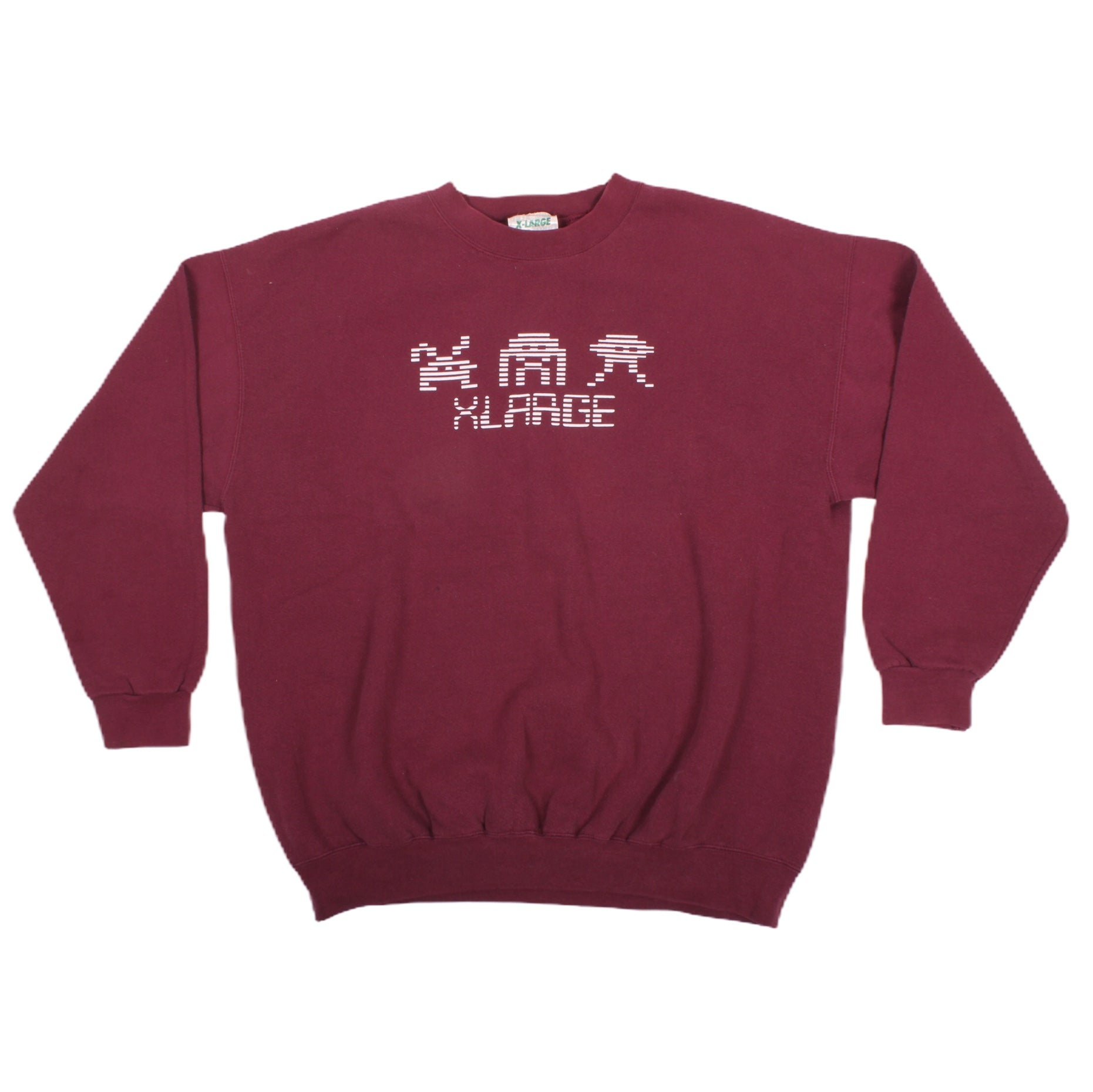 Overripe X-Large Crewneck Sweatshirt Invaders Burgundy XL (1991)