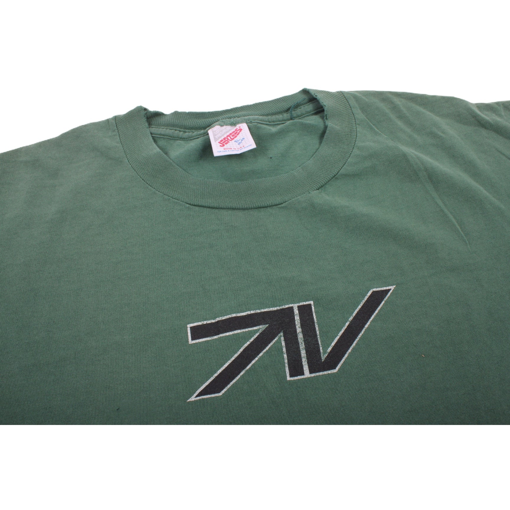 Overripe TV Skateboards Tee Shirt Green XL (1991)