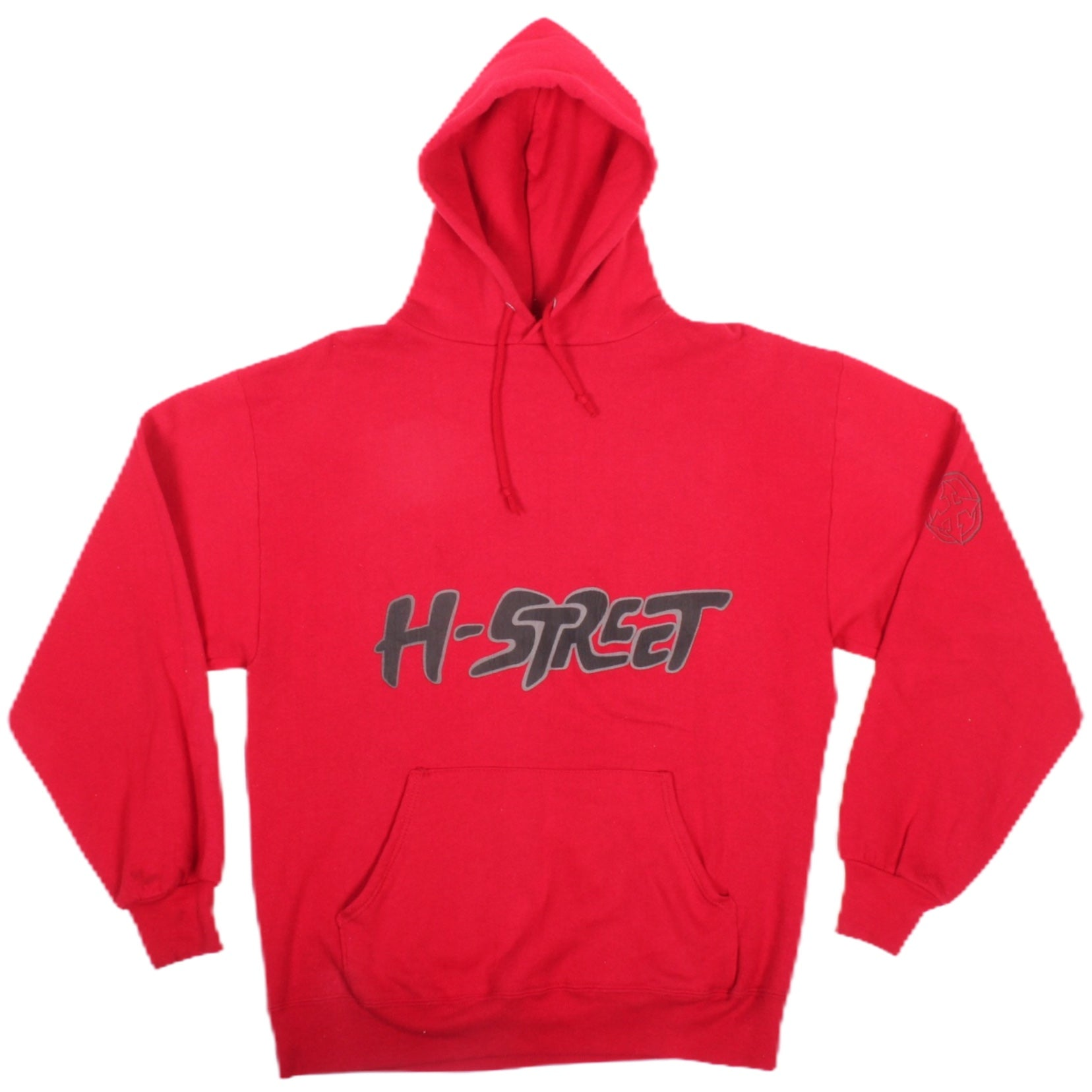 Overripe H-Street Hooded Sweatshirt Red Snug XL (1990)