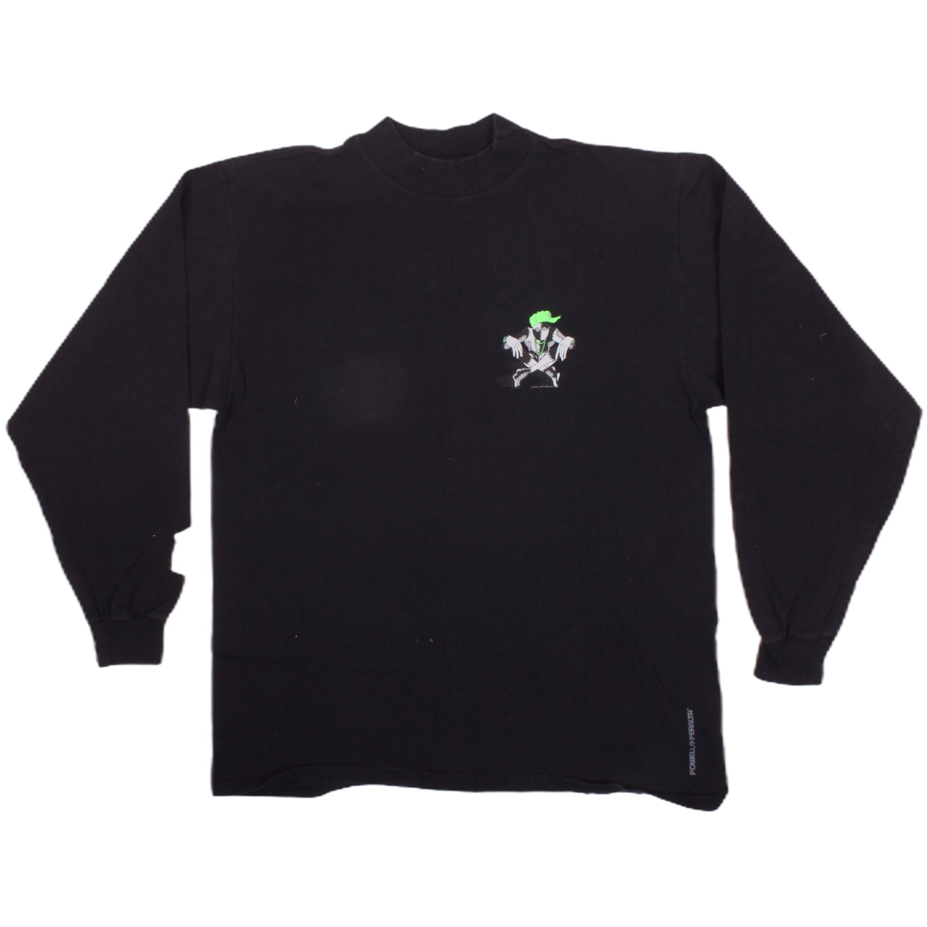 Overripe Powell Peralta Ray Barbee Mock Turtleneck Tee Black Large (1989)