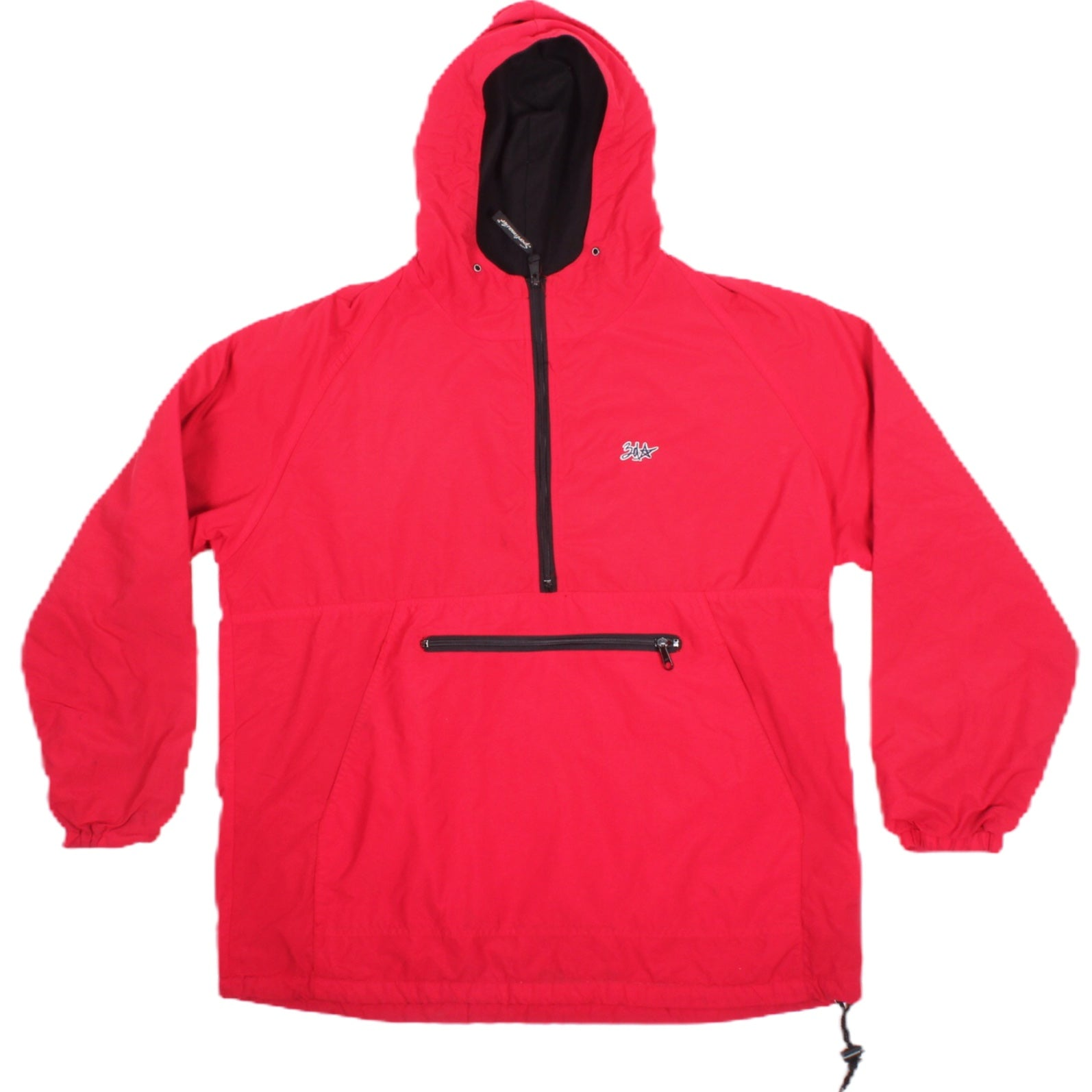 Overripe 3D Innovations Fleece Lined Windbreaker Red Baggy Medium