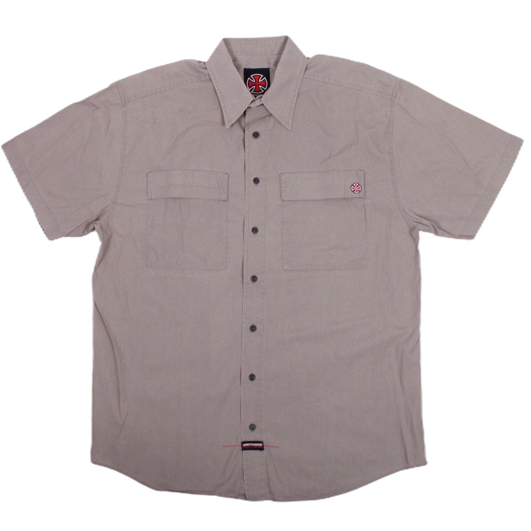 Overripe Independent Short Sleeve Workshirt Grey Large (2005)