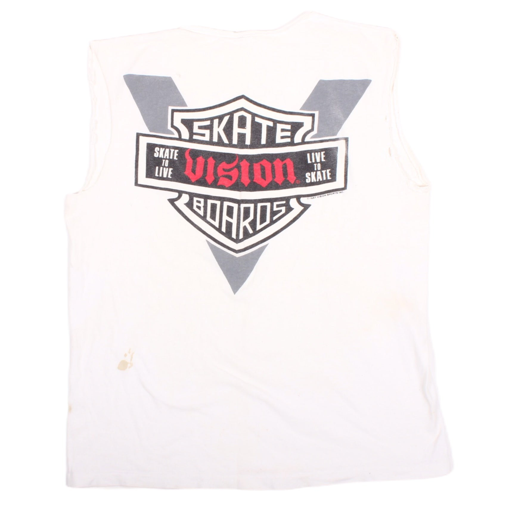 Overripe Vision Modified Tee Moto White (1988)