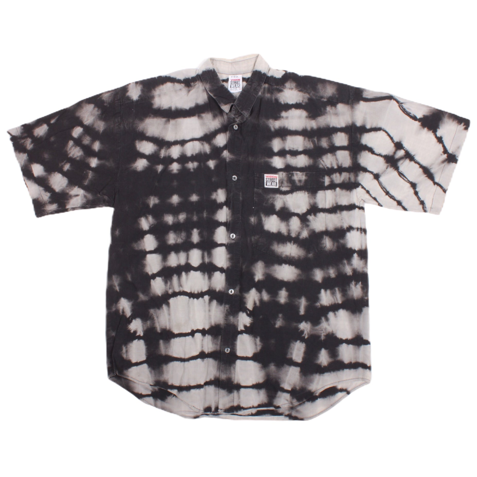 Overripe Vision Street Wear Button Up Black Acid Small (1990)