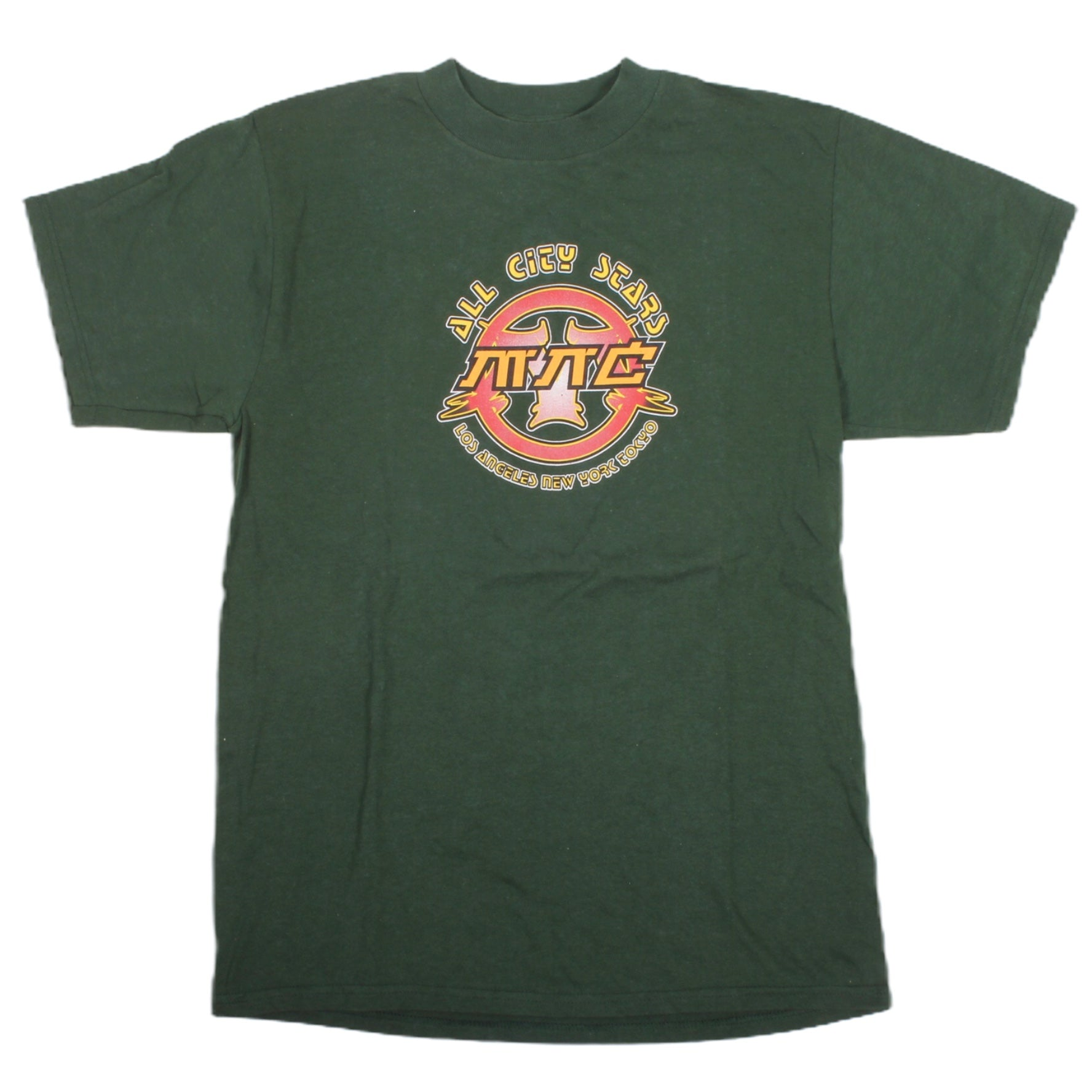 Overripe Menace Tee All City Stars Green Medium 1998