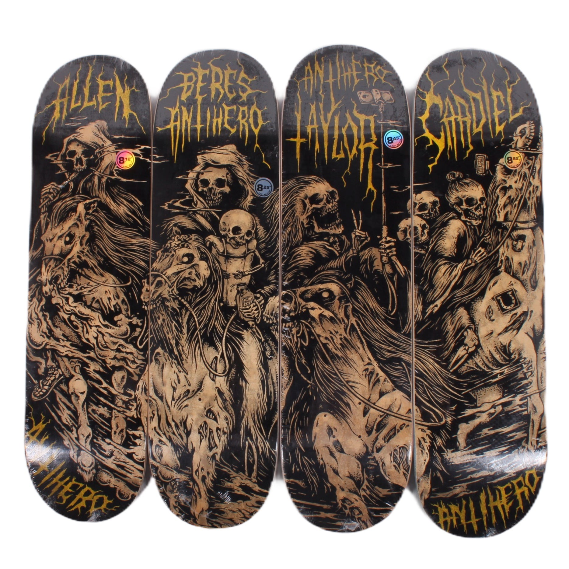 Overripe Anti Hero Set of 4 Decks Four Horsemen 2014