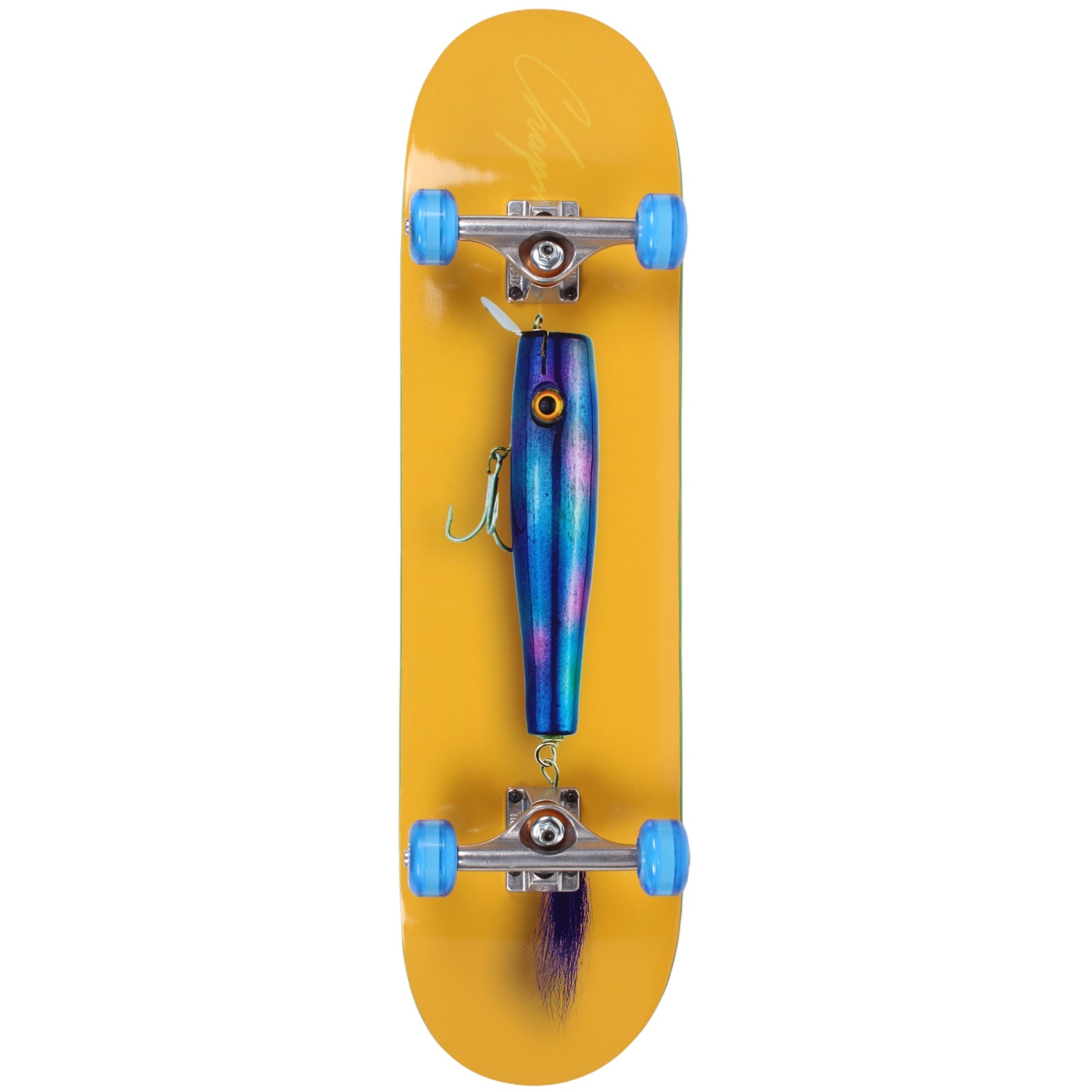 Chapman Lure Yellow Hybrid Complete Skateboard 8.3 (With Free Skate Tool)