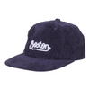 Orchard Tourist Script 6 Panel Hat Navy Corduroy