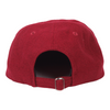 Orchard Text Logo 6 Panel Hat Crimson Flannel