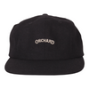 Orchard Text Logo 6 Panel Hat Black Flannel