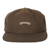 Orchard Text Logo 6 Panel Hat Military Green Flannel