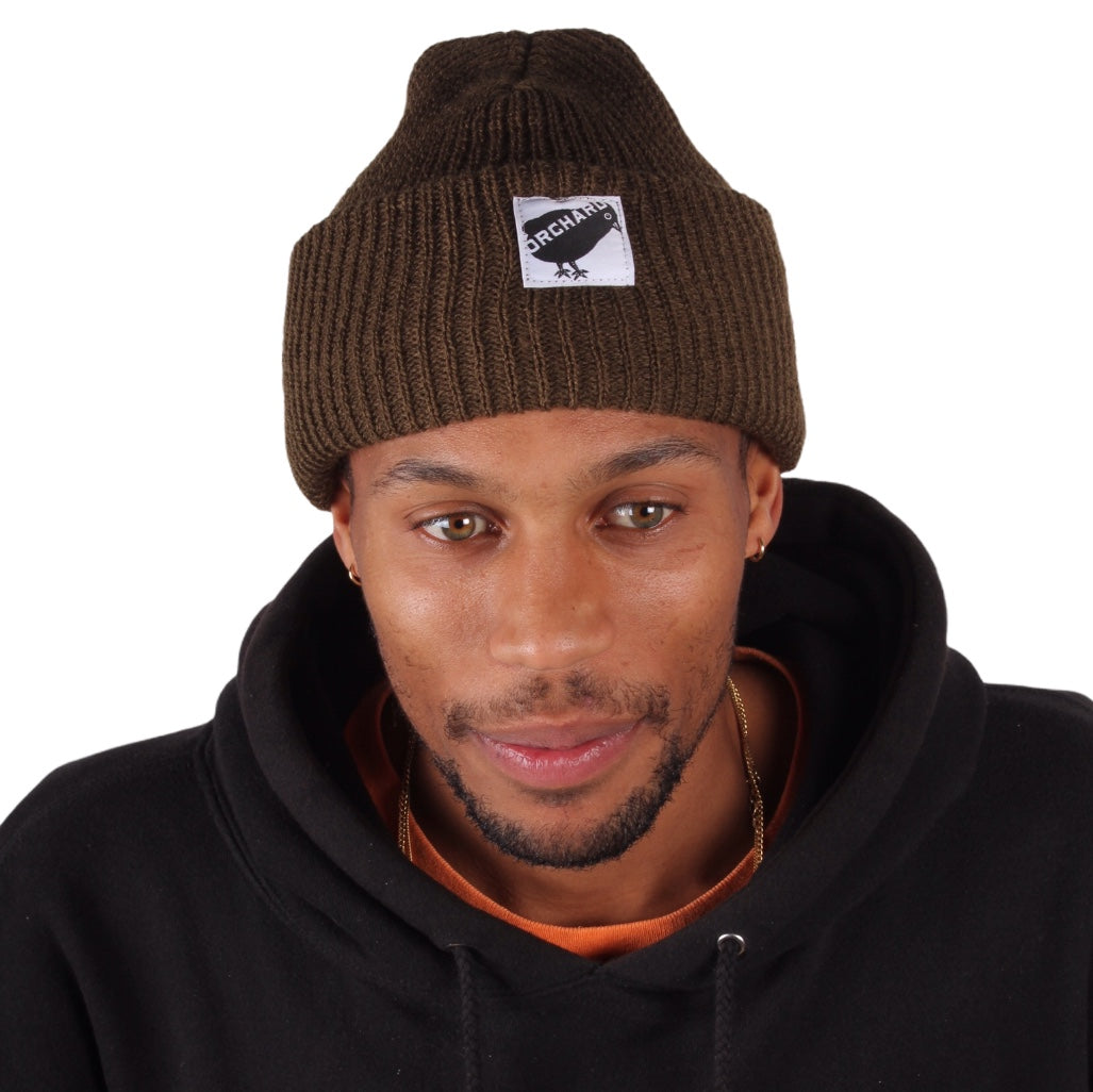 Orchard Black Bird Watch Beanie Olive