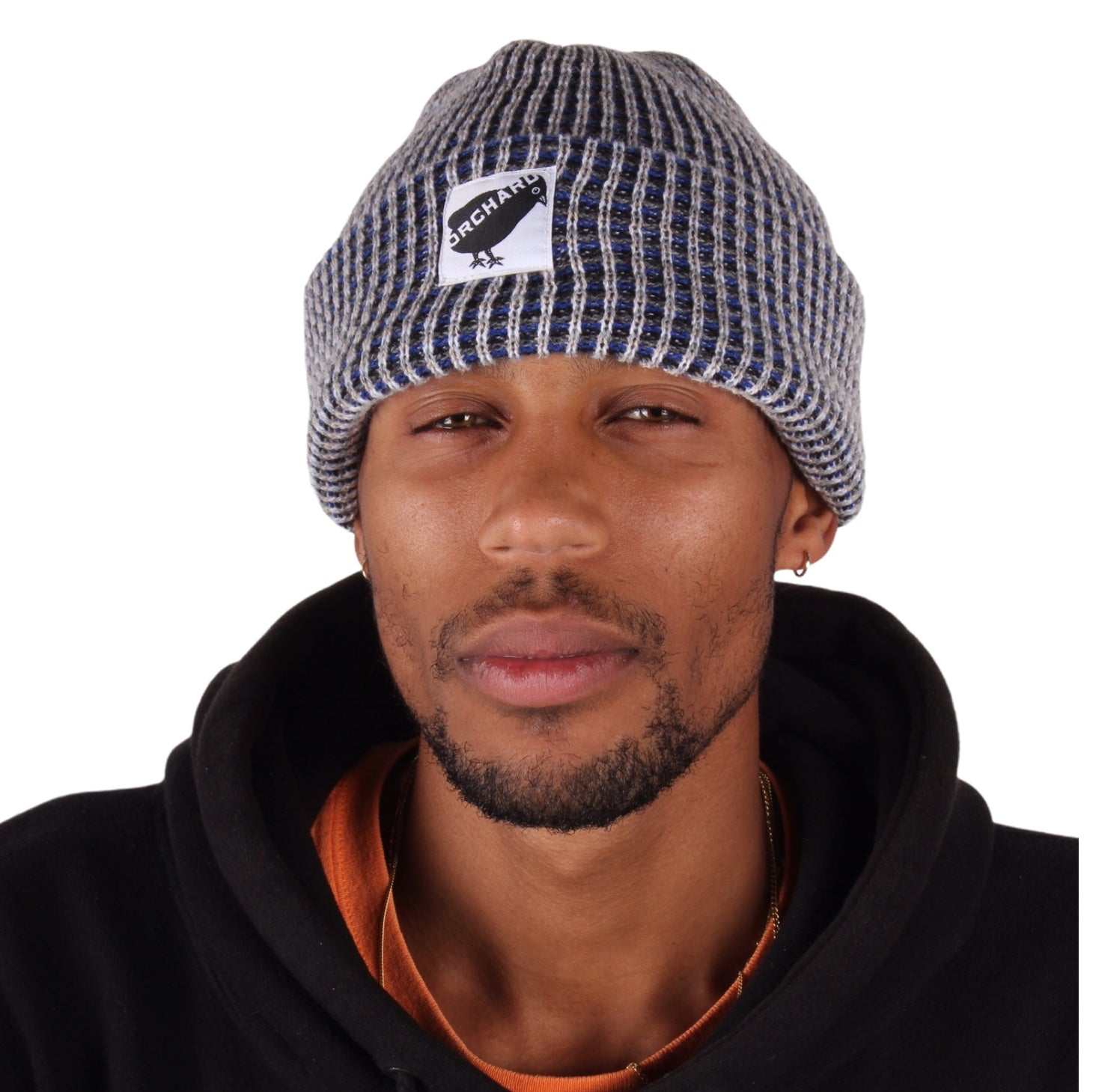 Orchard Black Bird Watch Beanie Blue/Grey/White