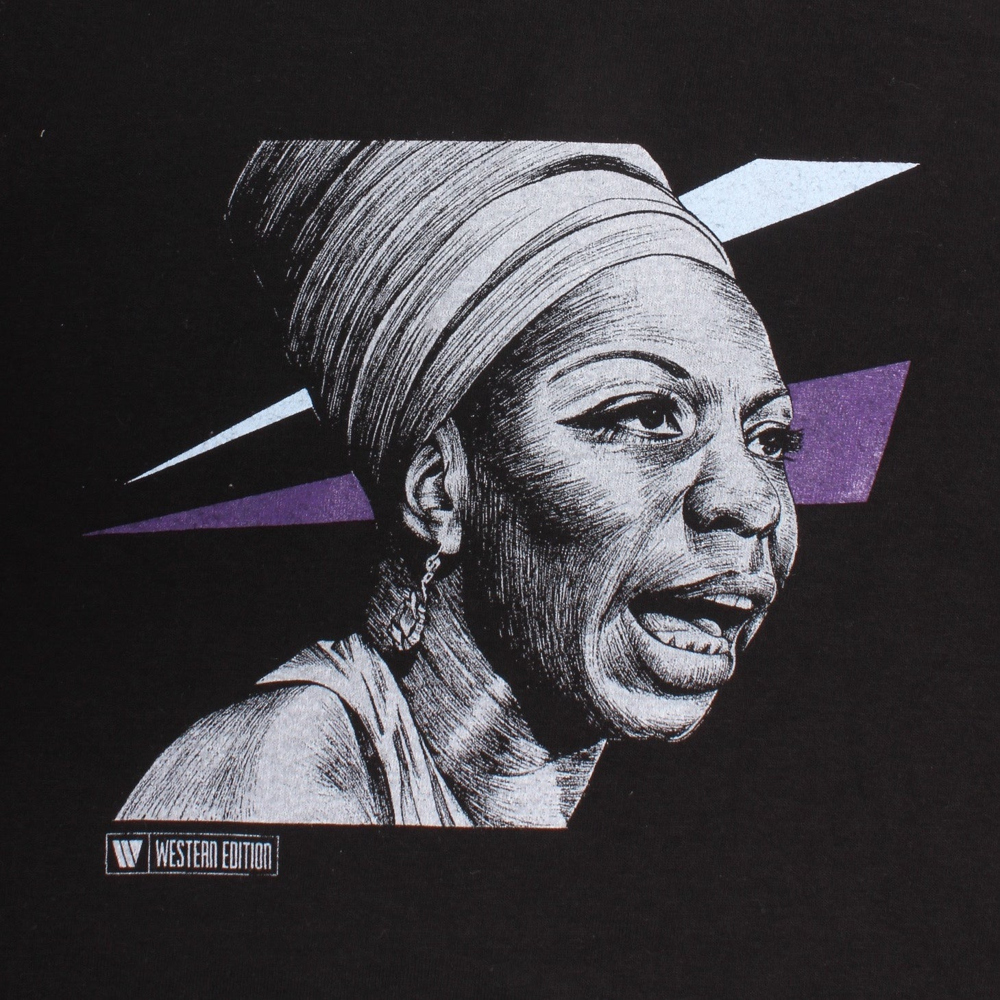 Overripe Western Edition Tee Nina Simone Ian Johnson Black Large NOS (2007)