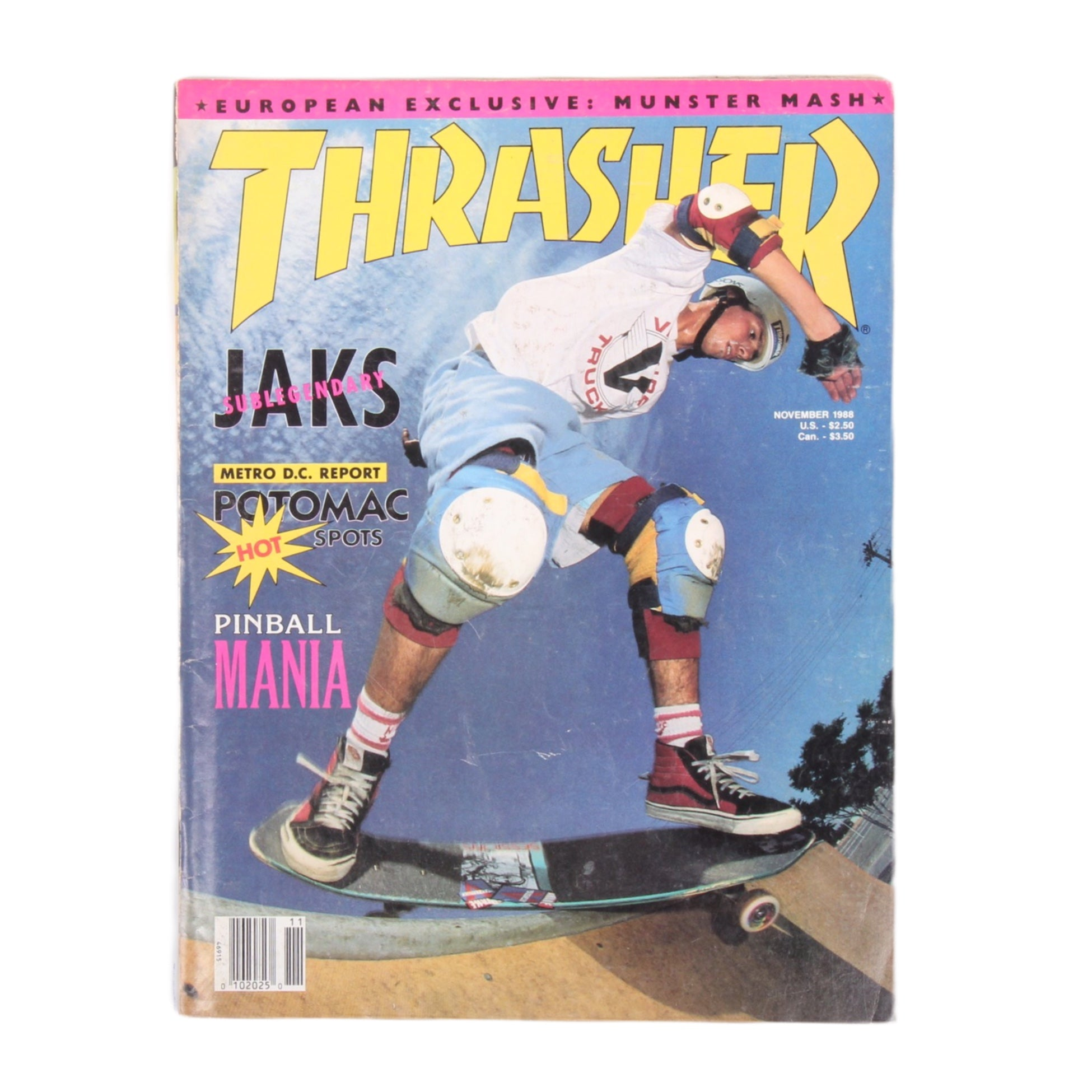 Overripe Thrasher Magazine Nov 1988