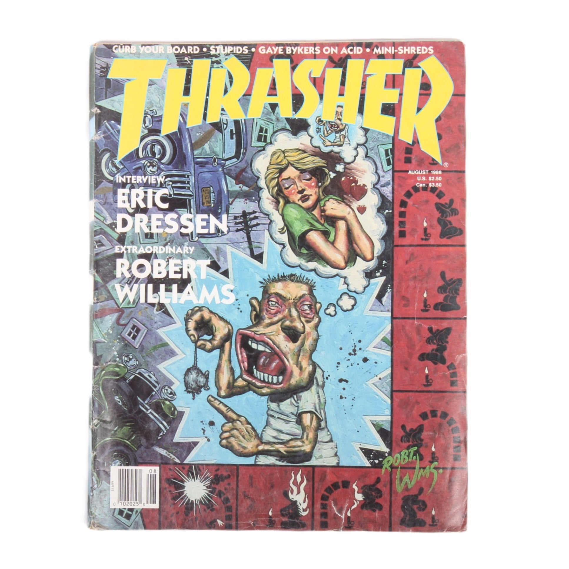 Overripe Thrasher Magazine Aug 1988