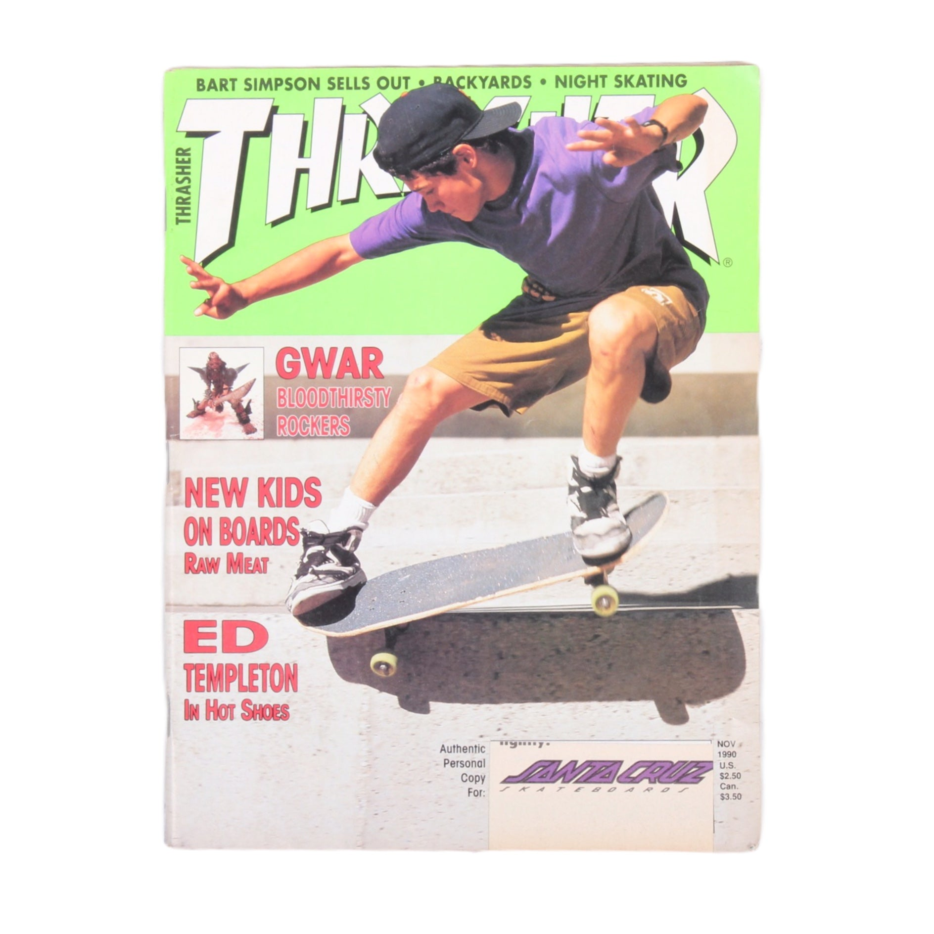 Overripe Thrasher Magazine Nov 1990