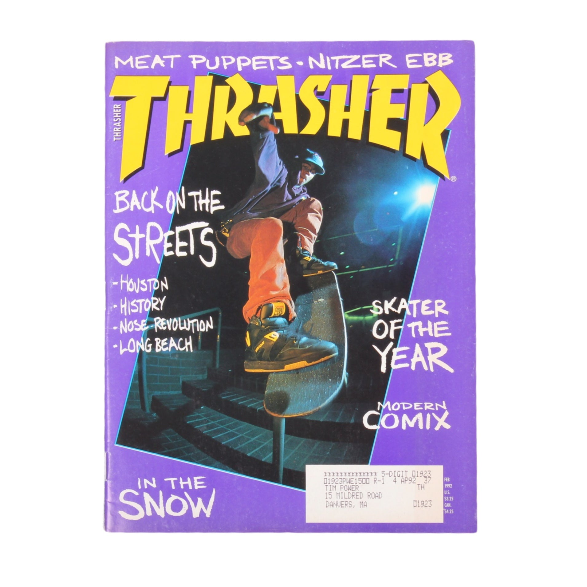 Overripe Thrasher Magazine Feb 1992