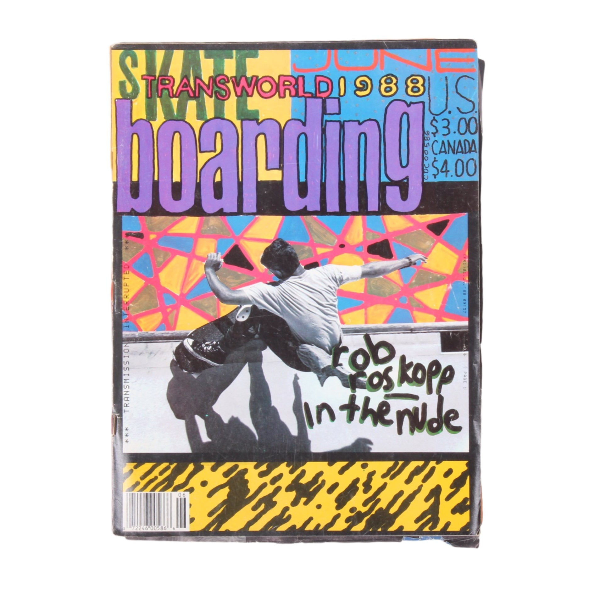 Overripe Transworld Skateboarding Magazine TWS June 1988