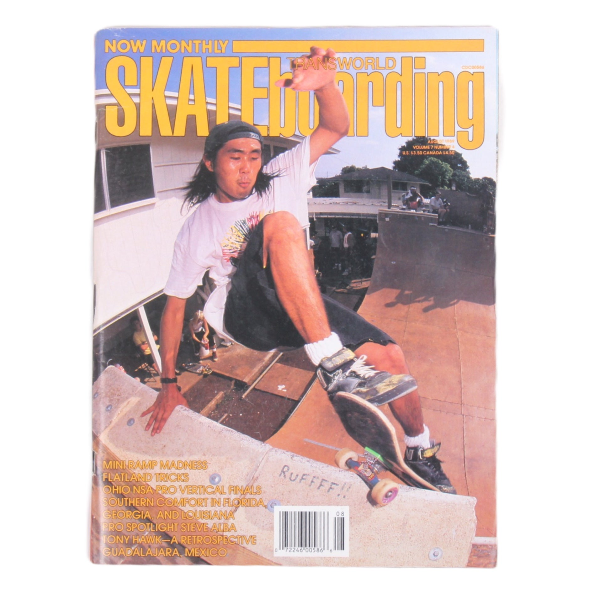 Overripe Transworld Skateboarding Magazine TWS August 1989