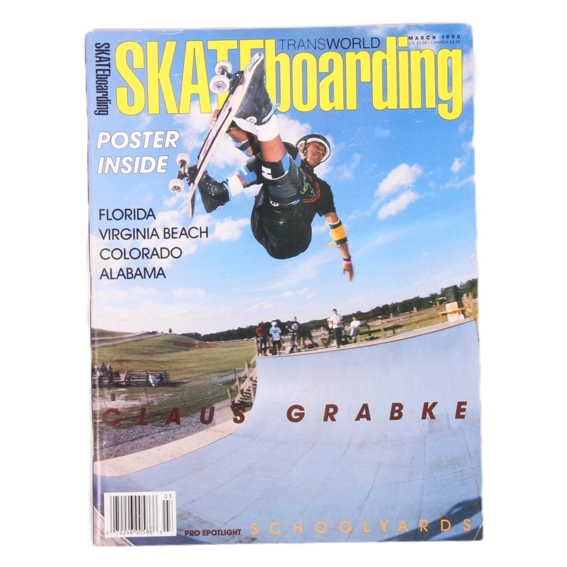 Overripe Transworld Skateboarding Magazine TWS March 1990