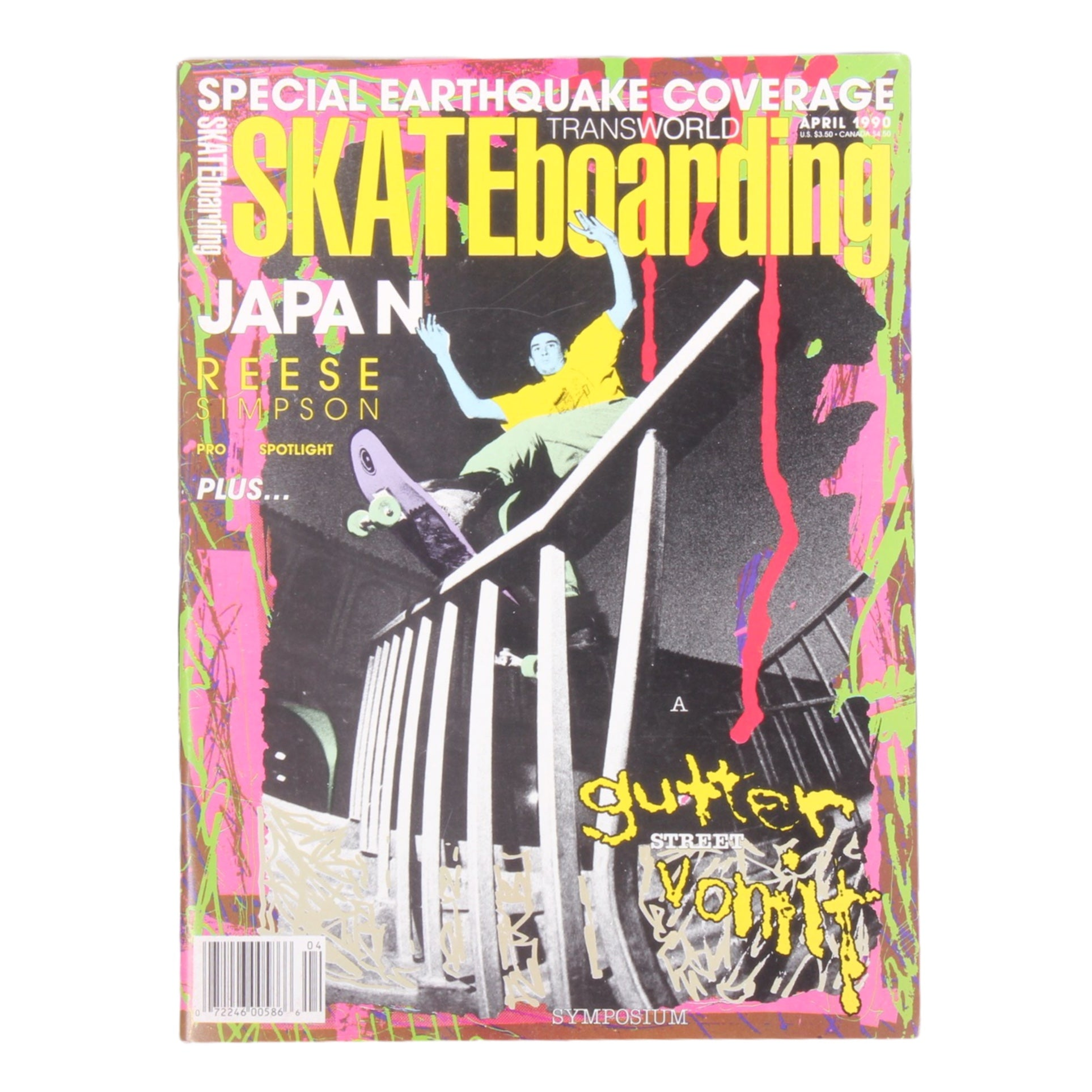 Overripe Transworld Skateboarding Magazine TWS April 1990