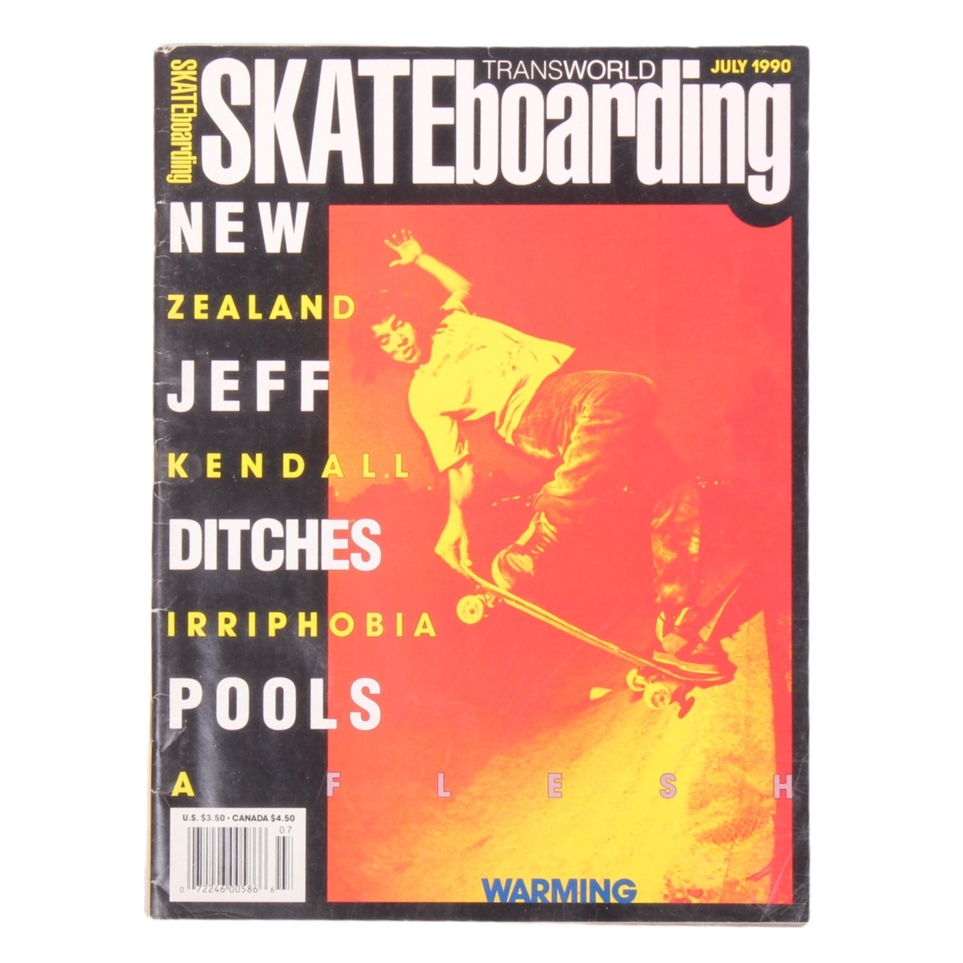 Overripe Transworld Skateboarding Magazine TWS July 1990