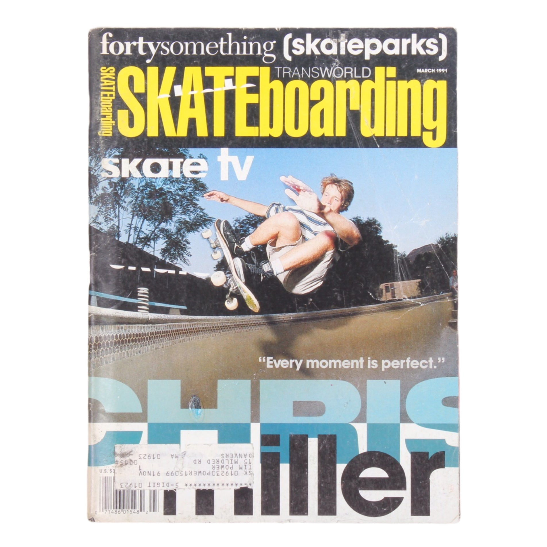 Overripe Transworld Skateboarding Magazine TWS March 1991