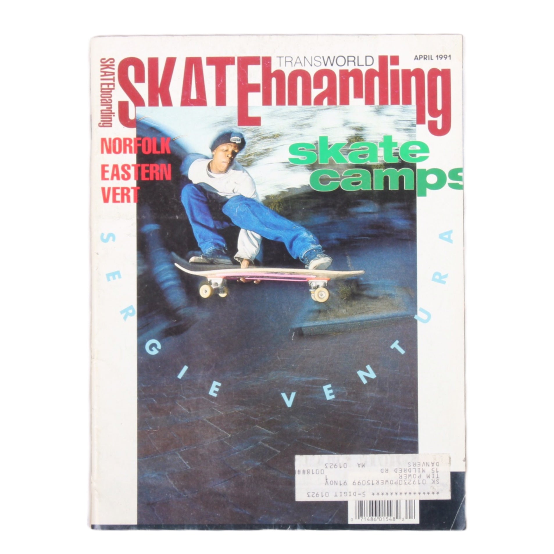 Overripe Transworld Skateboarding Magazine TWS April 1991