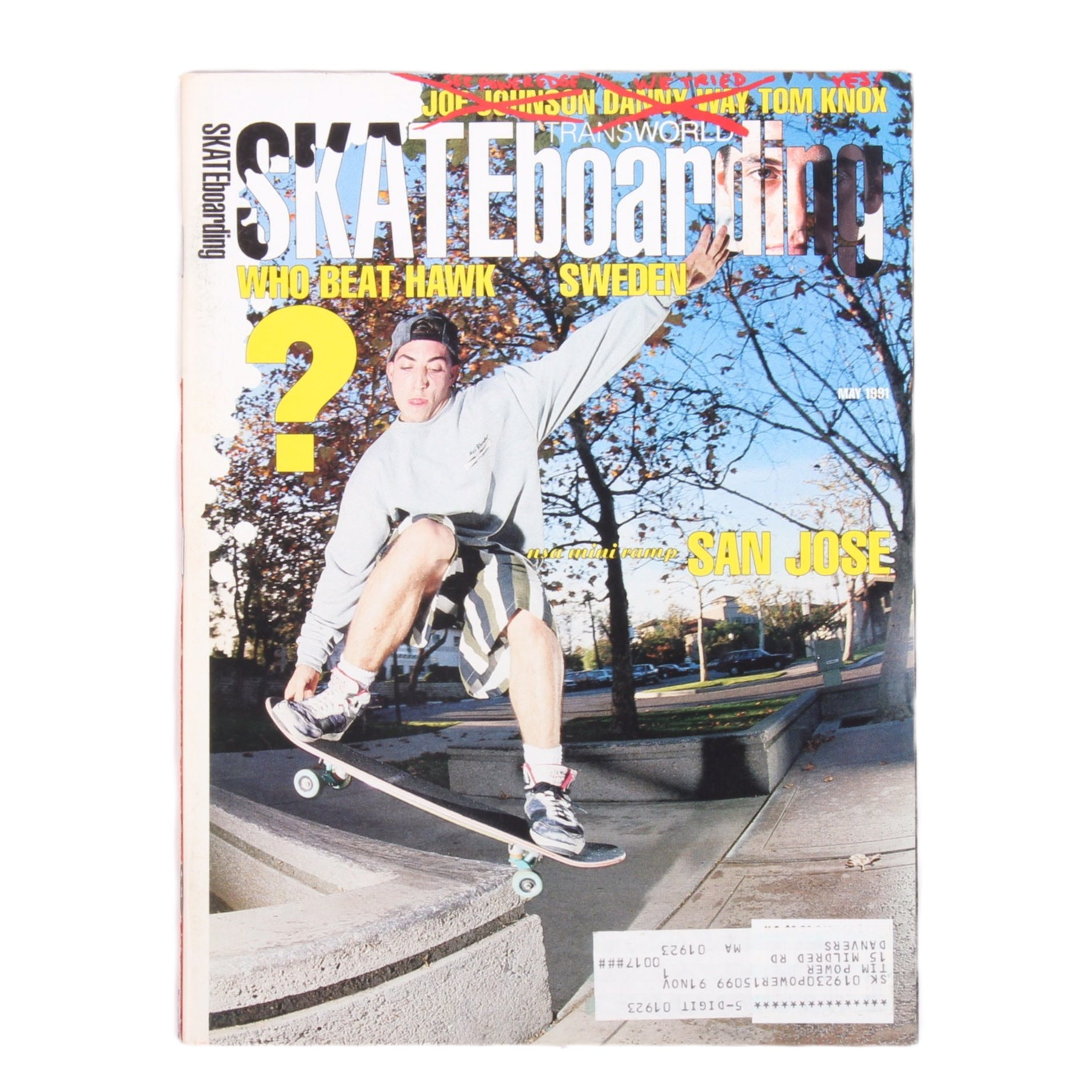 Overripe Transworld Skateboarding Magazine TWS May 1991
