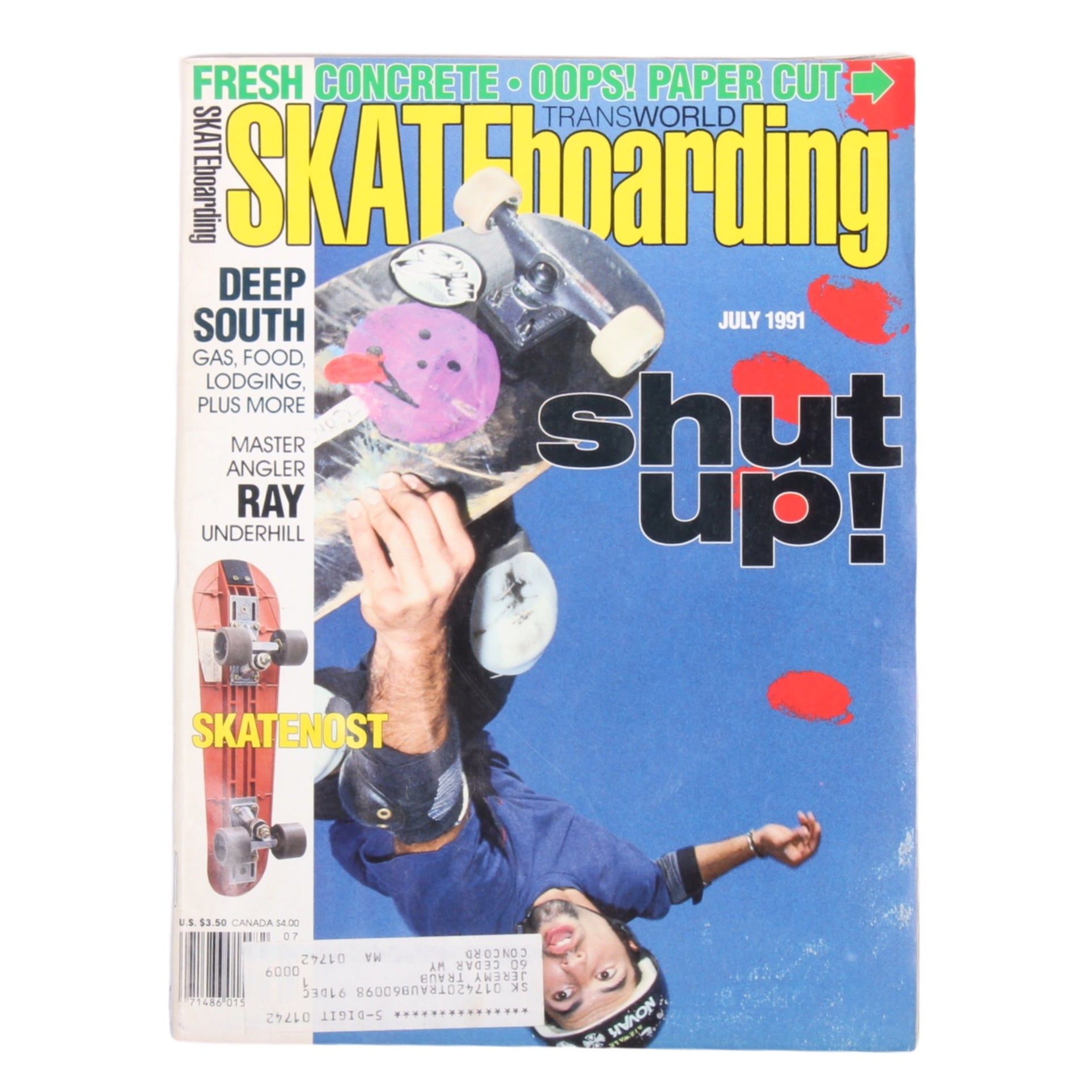 Overripe Transworld Skateboarding Magazine TWS July 1991