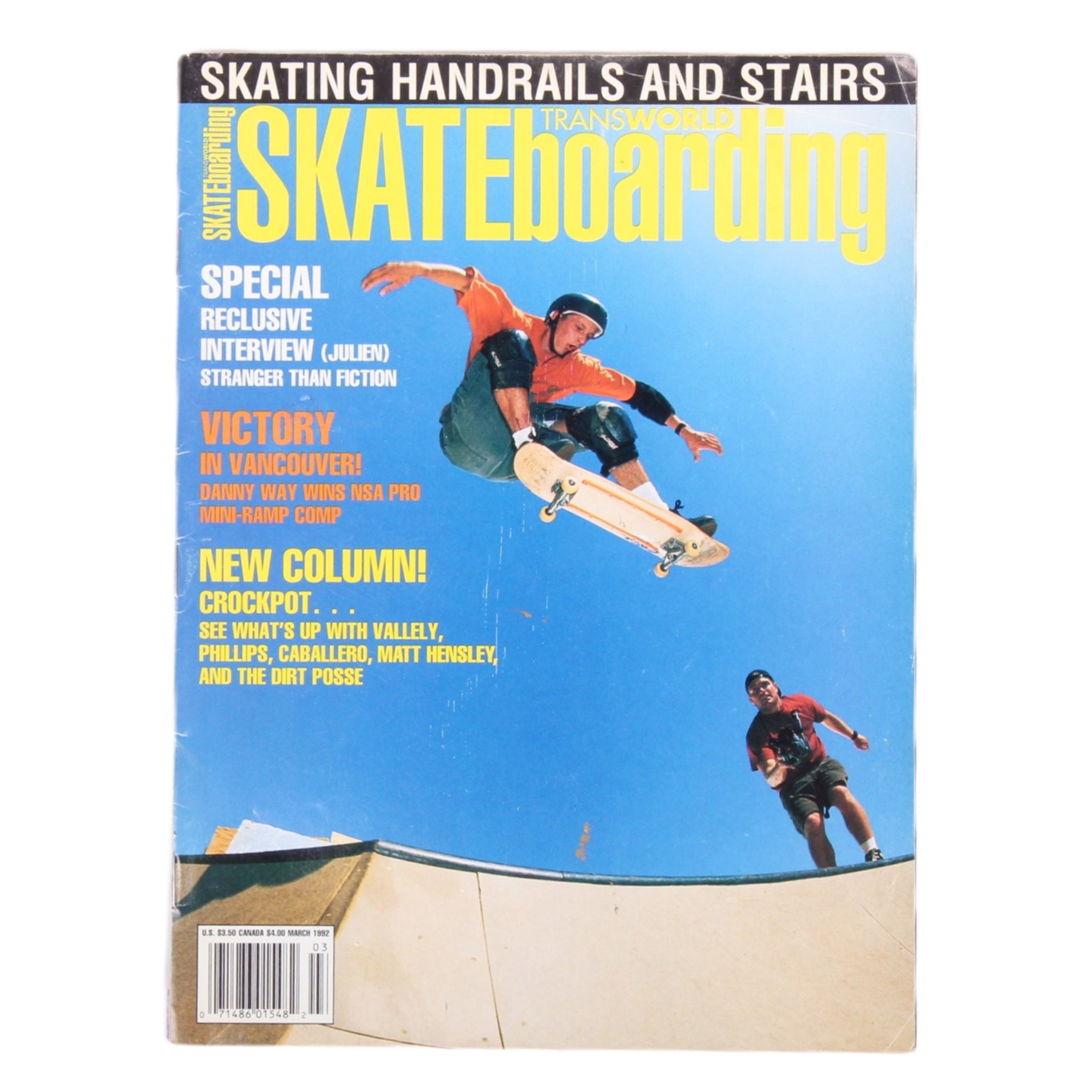 Overripe Transworld Skateboarding Magazine TWS March 1992