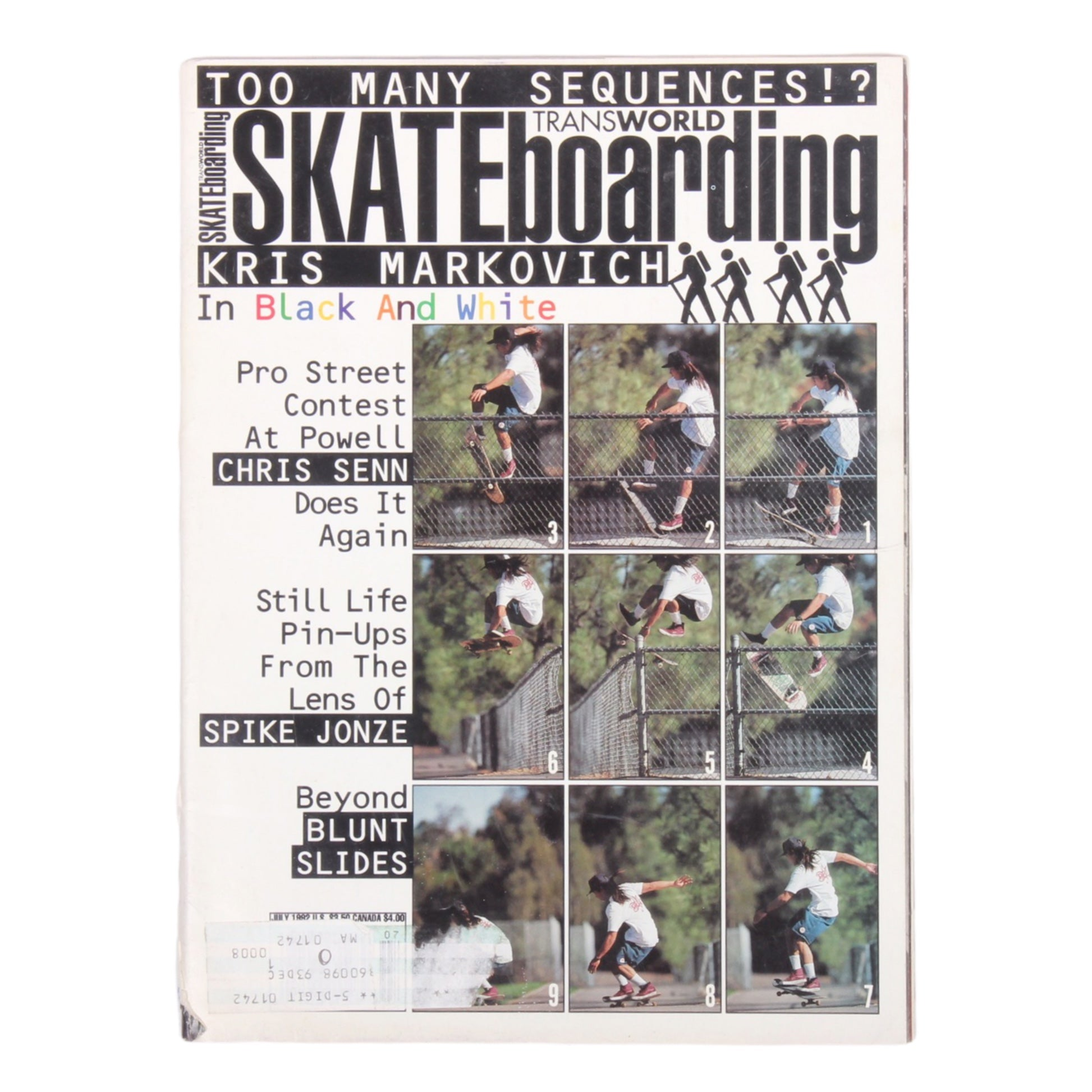 Overripe Transworld Skateboarding Magazine TWS July 1992