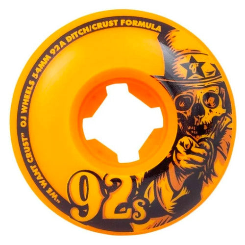 OJ Wheels 92s Original Orange 54mm