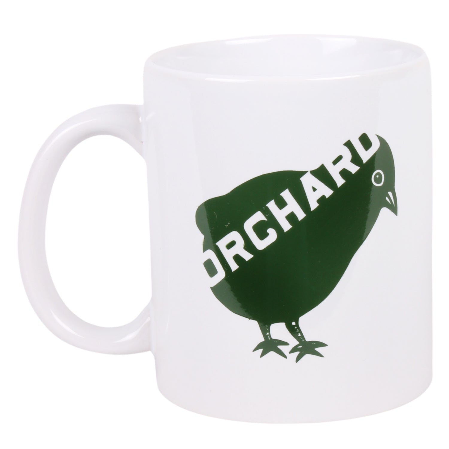 Orchard Bird Logo Coffee Mug White/Green