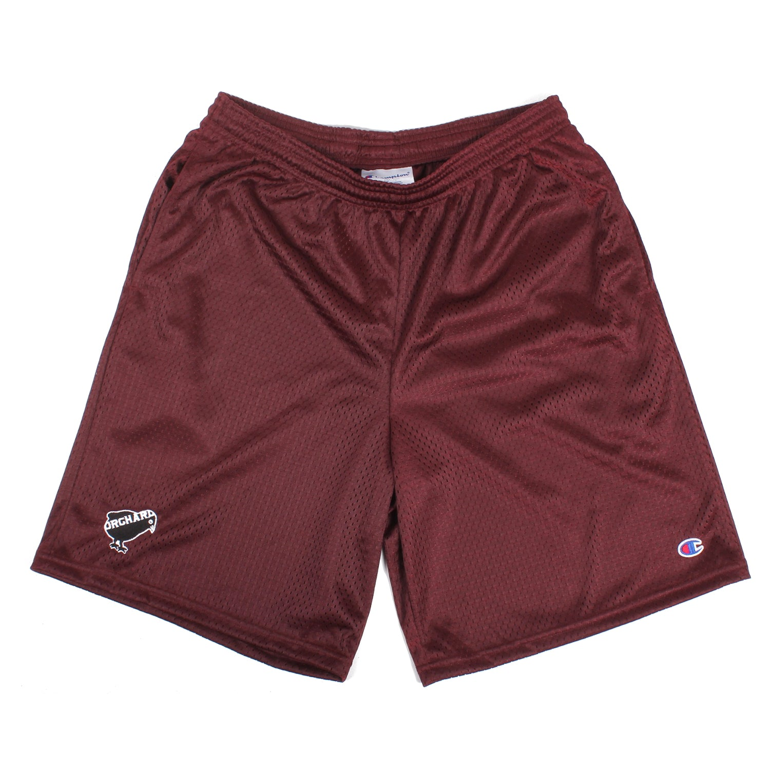 Orchard Mesh Shorts Emb. Bird Wine