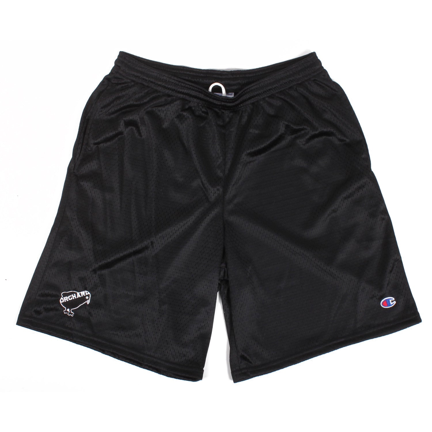 Orchard Mesh Shorts Emb. Bird Black