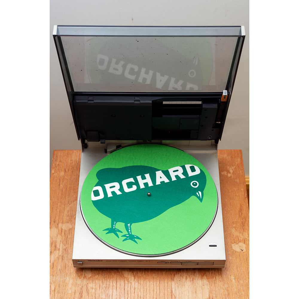 Orchard Turntable Slipmat Bird Logo Green