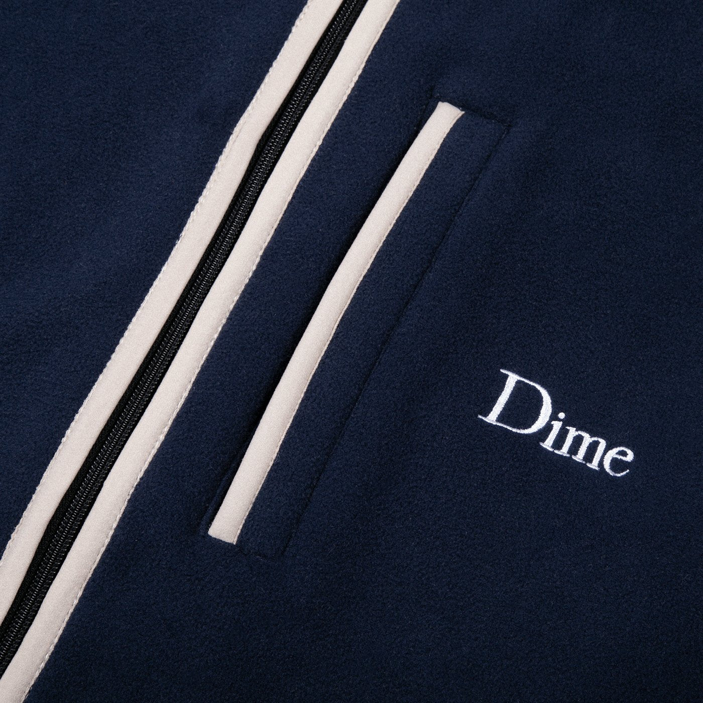 Dime Polar Fleece Hooded Jacket Navy