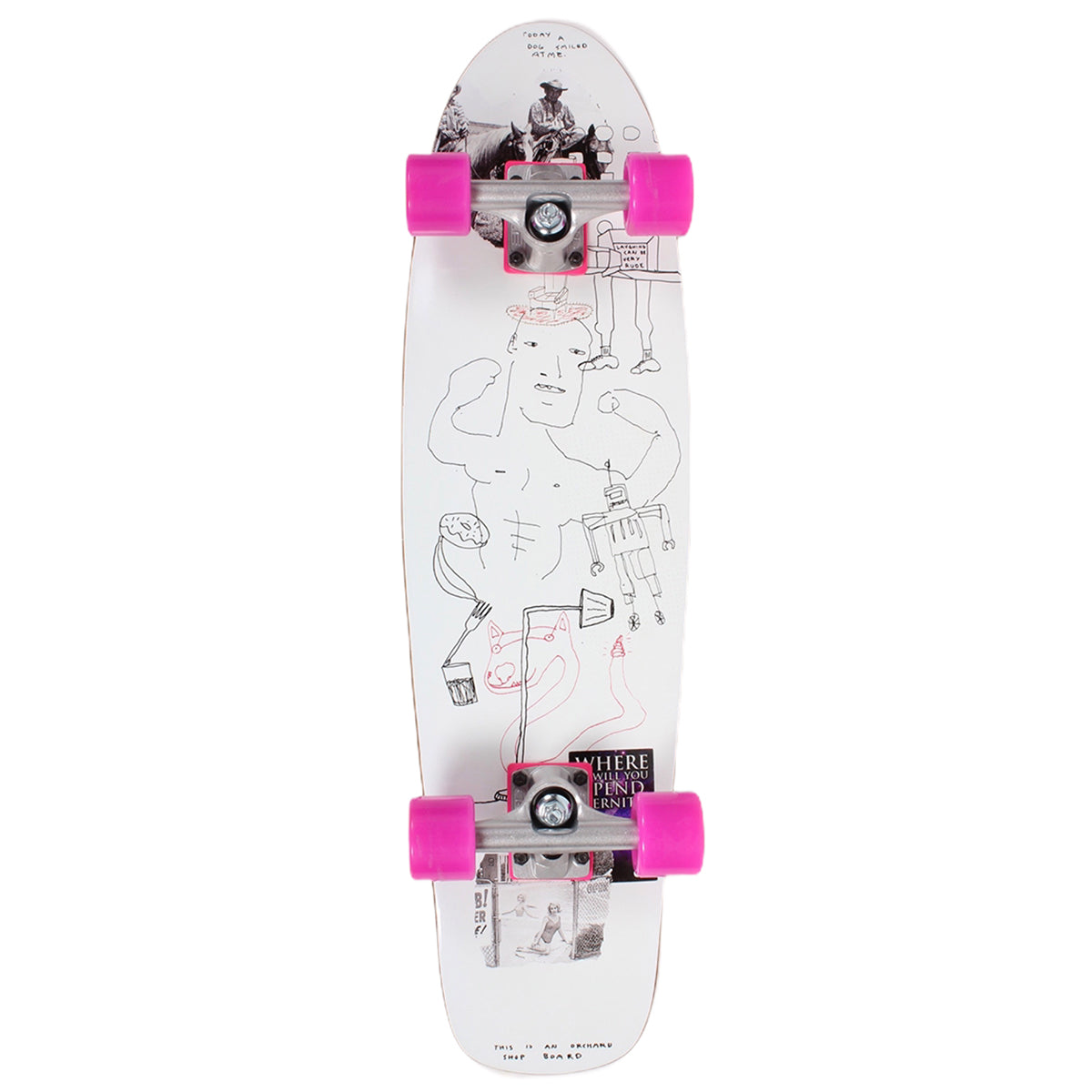 Orchard Sageman Smiling Dog Mini Cruiser Complete 7.8 X 29