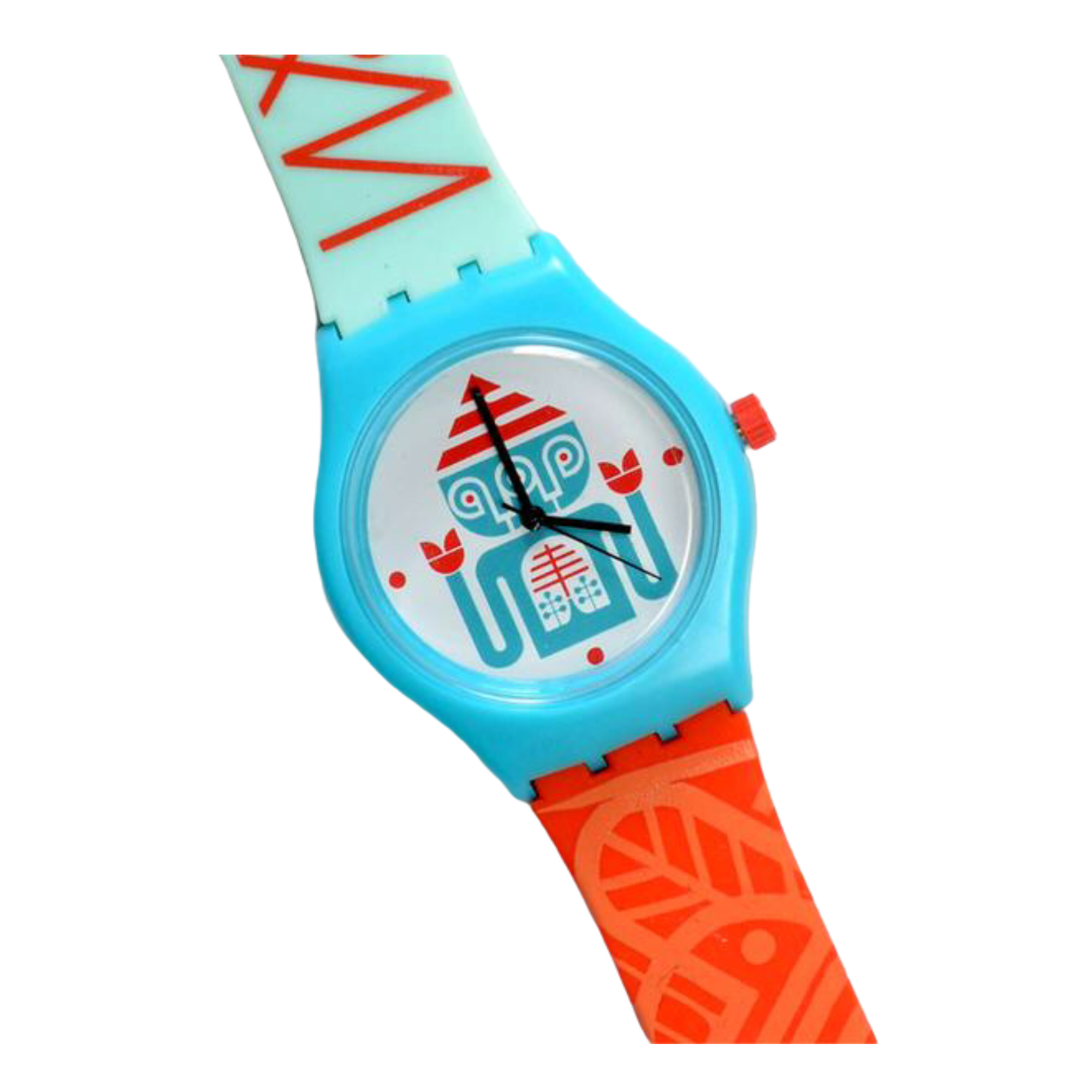 Darkroom Triclops Watch Teal/Orange/White
