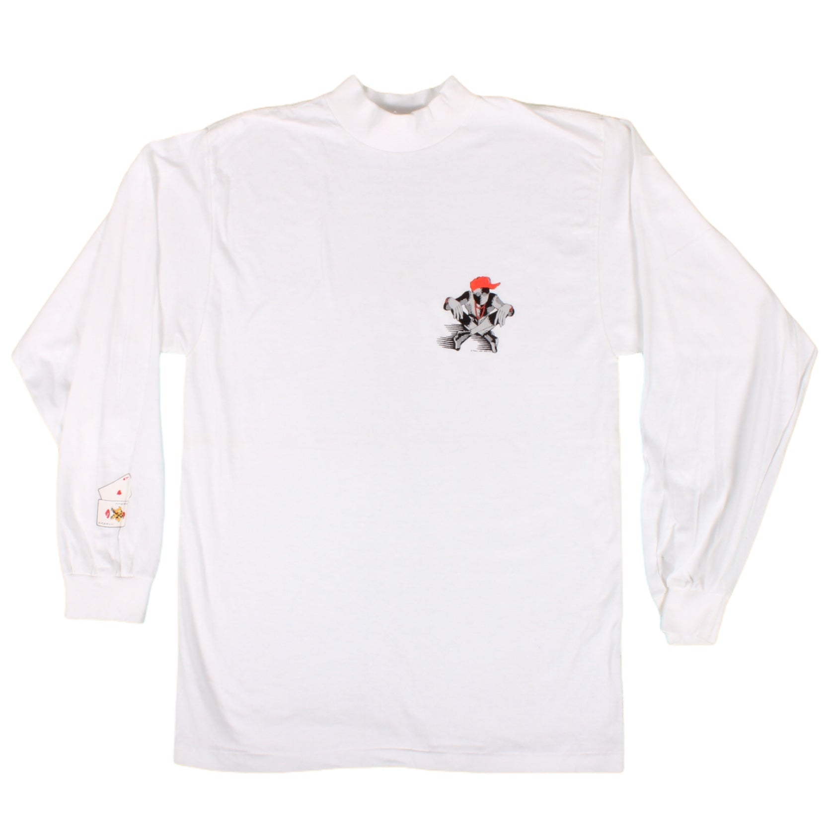 Overripe Powell Peralta Ray Barbee Mock Turtleneck Tee White Small (1989)
