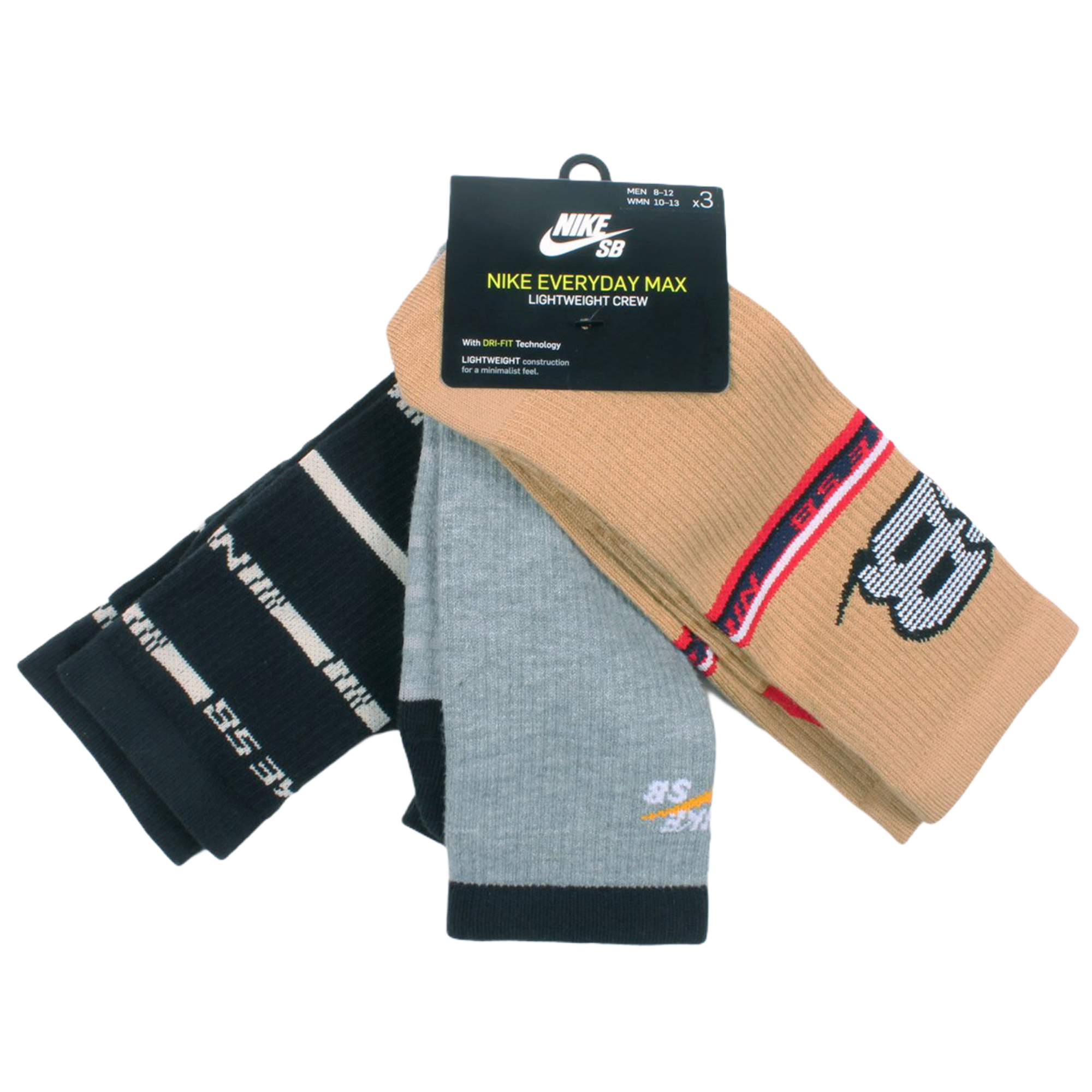 Nike SB Socks Everyday Max Lightweight Brown/Grey/Black