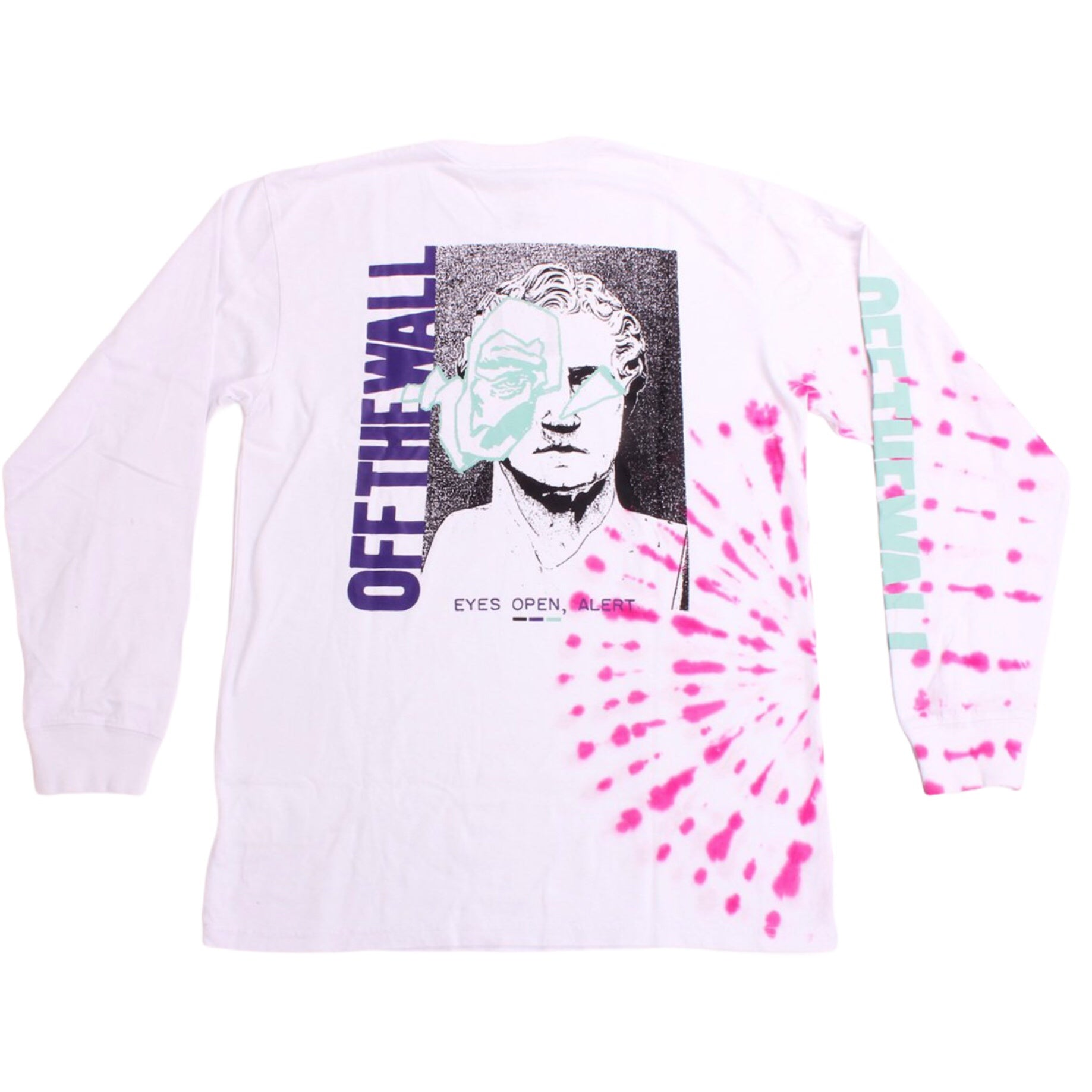 Vans LS Tee Eyes Open White Tie Dye