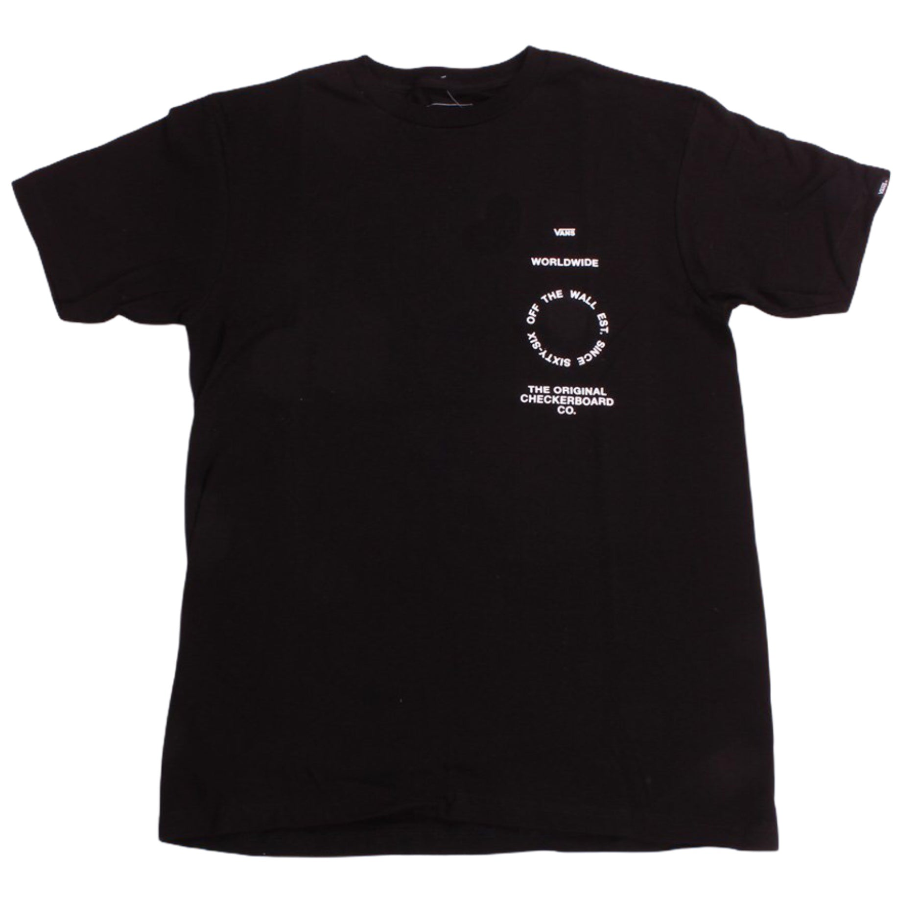 Vans Tee Distortion Type Black