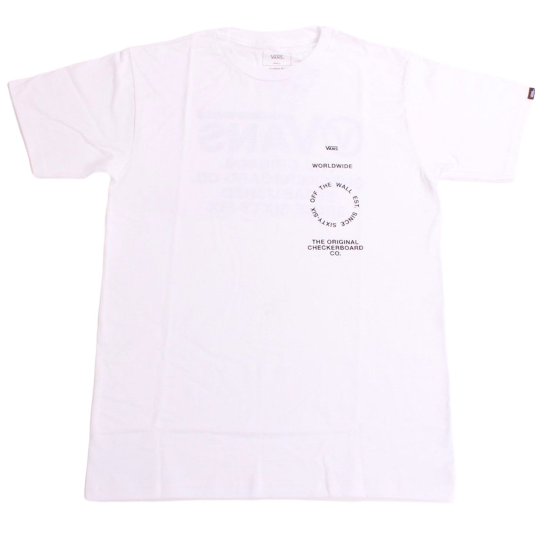 Vans Tee Distortion Type White