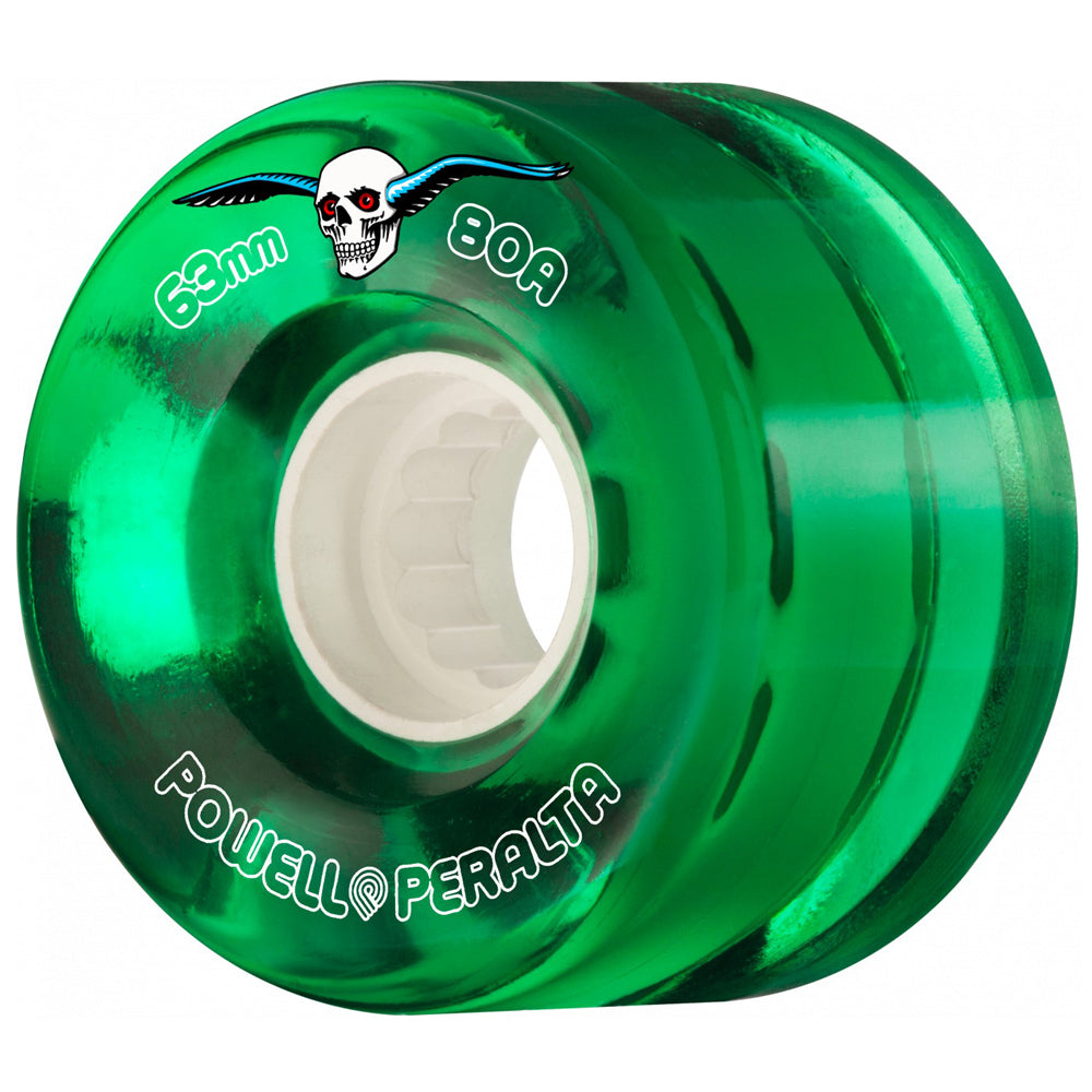Powell Peralta Clear Cruiser Wheels 80a Green 55mm
