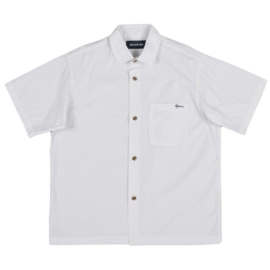Quasi P Dot Button Up White