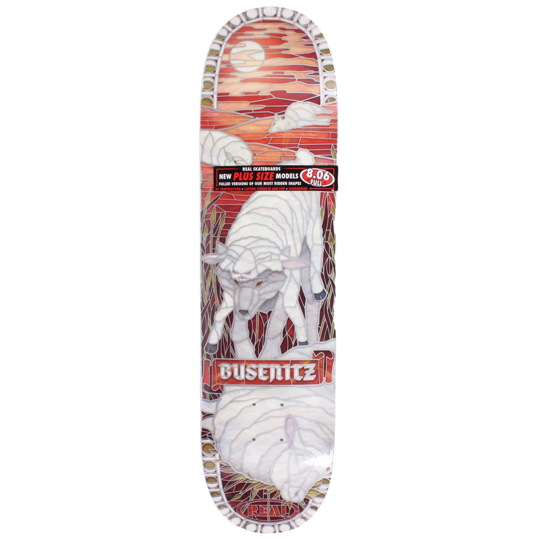 Real Busenitz Bull Deck 8.06 Full Blemish Deck